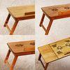 대나무 원목 베드 좌식 접이식 노트북 거치대 테이블
