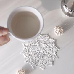 화이트 엔젤 컵받침(1p)
