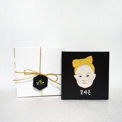 아기 일러스트 팝아트초상화 - 캔버스액자