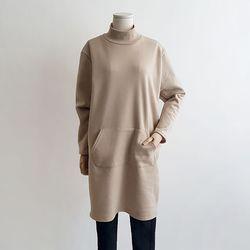 도톰기모 루즈핏 롱 폴라 맨투맨 티셔츠 2color
