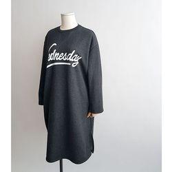 도톰기모 웬즈데이 롱 맨투맨 티셔츠 2color