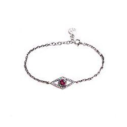 eye cubic bracelet - ruby