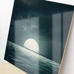 im673-아크릴액자바다위의달