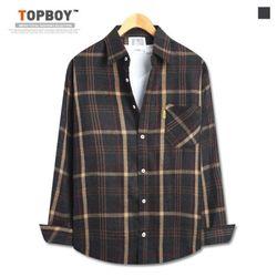 [탑보이] 제이팔 기모 오버핏 체크셔츠 (ZT160)
