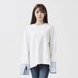 [제너럴코튼] 셔츠 맨투맨 화이트