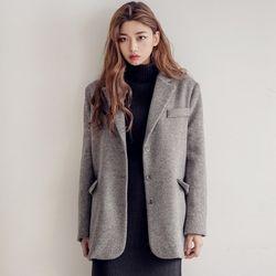 [로코식스] hidden over wool JK자켓