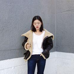 양털 리얼 무스탕