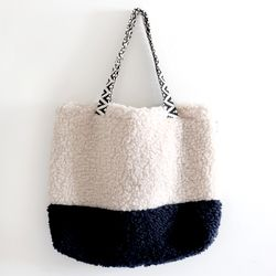 cream cozy bag