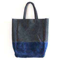 gray blue totebag