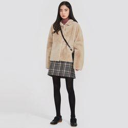 cozy collar fur jacket