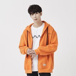 [제너럴코튼] 후드집업 오렌지