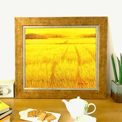 황금 황보리 풍수지리그림 부자되는그림  유화그림
