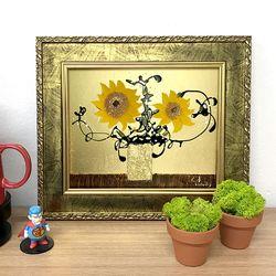 황금 해바라기그림 유화그림 그림액자 인테리어 그림