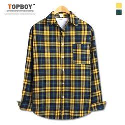 [탑보이] 사이먼 오버핏 면체크 셔츠 (CN001)