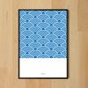 일본 인테리어 디자인 포스터 웨이브패턴 A3(중형)