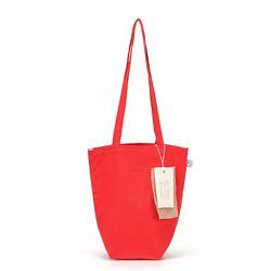 linen mini ecobag - red