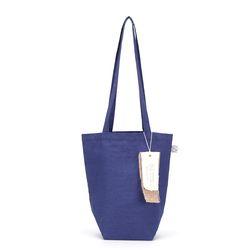 linen mini ecobag - blue