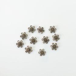 금속참장식 - 육각플라워(6개) [1260]