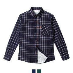 남자셔츠 더블 윈도우페인 체크 기모 남방