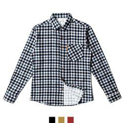 남자셔츠 투톤 깅엄 체크 기모 남방