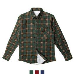남자셔츠 다크 타탄 체크 기모 남방