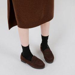 여성 스웨이드 털 로퍼 ws-2076덴비