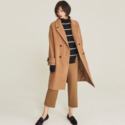 DOUBLE OVERSIZED WARM COAT (BEIGE)