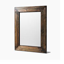 러스틱 원목 거울 L