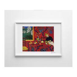 마티스 명화 포스터 스틸 액자 - Red Room (미니)