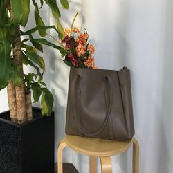 Wide square shopper bag