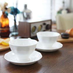 뉴 퓨어화이트 커피잔-4인세트