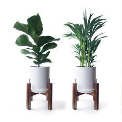 숏레그 우드 화분스탠드+공기정화식물 선택
