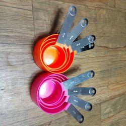 카페테리아 컬러 계량컵4p(색상랜덤)