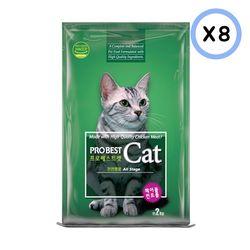 프로베스트 캣 2kg 8개고양이사료헤어볼