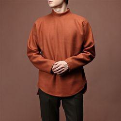 [매트블랙] 울 펠트 폴라 티셔츠