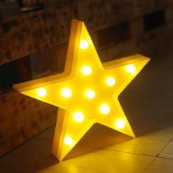 옐로우 큰별 LED 별장식 조명
