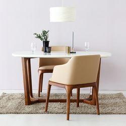 VASTO 대리석원목테이블  + VASTO 의자 2인세트