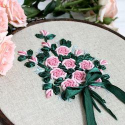 프랑스자수 패키지 장미꽃다발 (리본자수) 2color 택1
