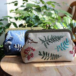 프랑스자수 DIY 손가방 만들기 패키지세트 2color