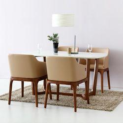 VASTO 대리석원목테이블 + VASTO 의자 오크 4인세트