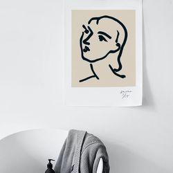앙리 마티스 드로잉 포스터 - Nadia1948 (미니)