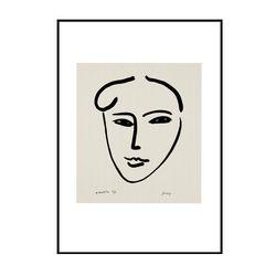 앙리 마티스 드로잉 포스터 - Jackie1947 (미니)