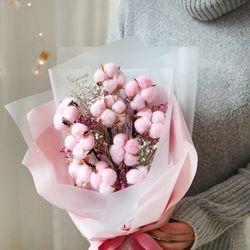 프리저브드 10송이 핑크 목화꽃다발