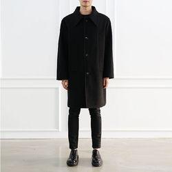 스탠다드 4 포켓 울 코트 - 블랙