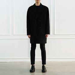 프리미엄 더블 하프코트 -블랙