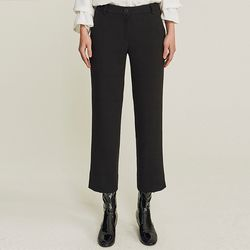 SIDE SLIT NAPPING SLACKS (BLACK)