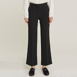 PINTUCK LINE WIDE SLACKS (BLACK)