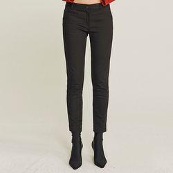 SKINNY NAPPING SPAN PANTS (BLACK)