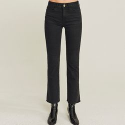 SLIM BOOTCUT NAPPING BLACK JEAN