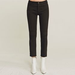 EASY WARM NAPPING SLIM PANTS (BLACK)